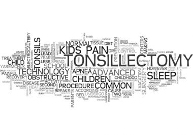 Post-TONSILLECTOMY in children